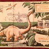 1933 Chicago Sinclair Road Map Dinosaur Worlds Fair