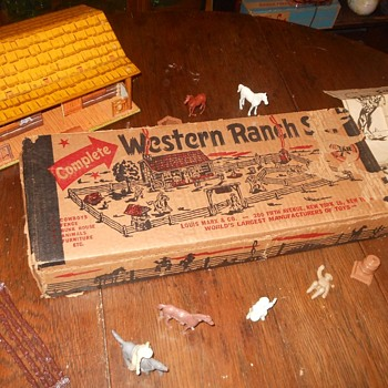 Marx Western Ranch Set Playset Box - Toys