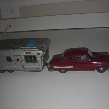 Model cars built when I was a kid &amp; promo cars and a tin toy camper.