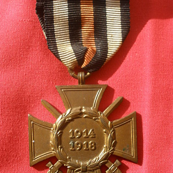 Cross of Honor, aka Hindenburg Cross. German WWI service award from 1930&#039;s