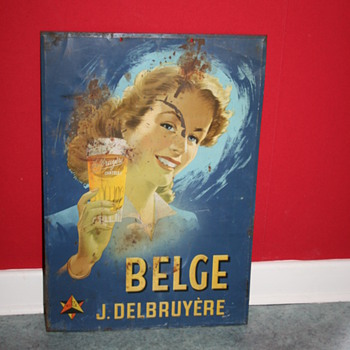 Belge Delbruyere beer tin sign