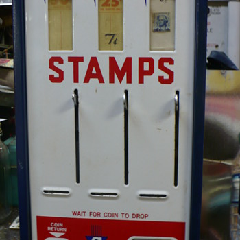 stamp vending machine - Coin Operated