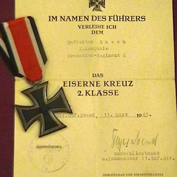 WW II German Combat Awards and Certificates - Military and Wartime