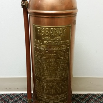 Antique Brass Fire Extinguisher - Firefighting