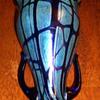 Loetz Cobalt Pampas Vase.
