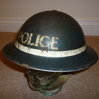 British WW11 Police Sergeant helmet - Military and Wartime