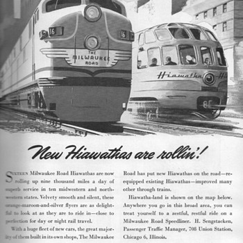 1948 - Milwaukee Railroad Advertisement