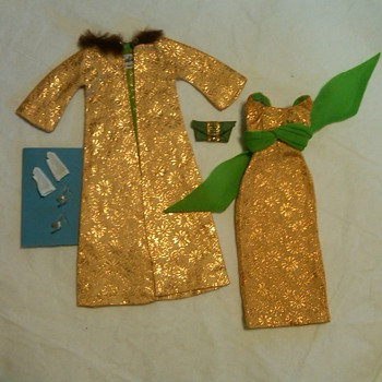 "Vintage Barbie Mint and Complete ""Golden Glory"" Outfit: 1960's"