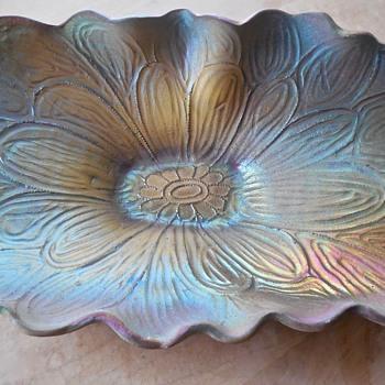 Large Carved Raku Platter/Bowl - Art Pottery
