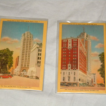 Vintage Lansing, Michigan Postcards