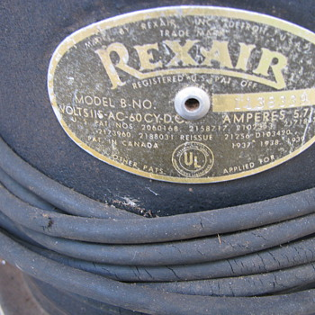 Early Vaccum Cleaner  Rex- Air - Tools and Hardware