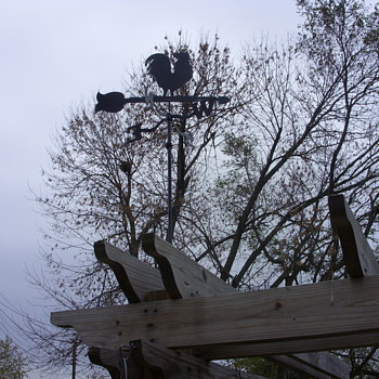 rooster weather vane