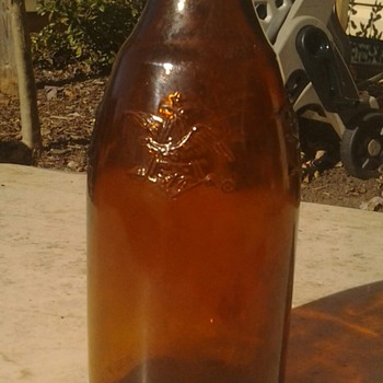 old anheuser busch beer bottle