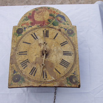 Old Painted clock - Clocks
