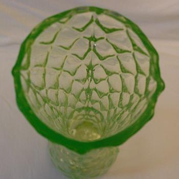 URANIUM GLASS VASE? - Glassware