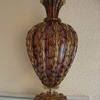 lampfoot probably murano 20s - Art Glass