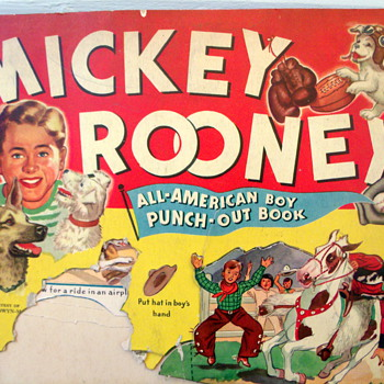1941 Mickey Rooney Paper Doll punch-out book - Paper