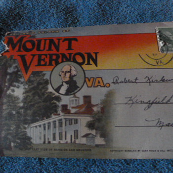 Mount Vernon, VA ~ Souvenir folder of photos - Postcards