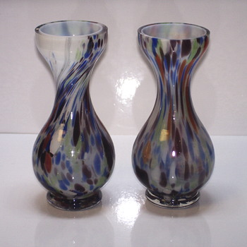 Pair of Multi colors Vase, Welz ??or Ruckl ?? Or ??