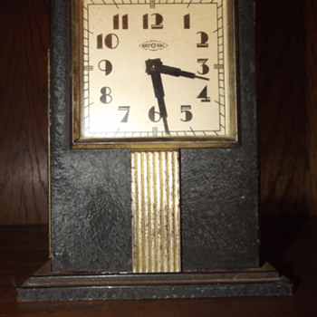 1930's Ray-O-Vac Skyscraper Battery Operated Advertisement Clock - Art Deco