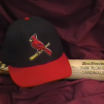 Mark McGwire Game Used Bat and Cardinals Cap - Baseball