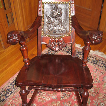 Carved German Rocking Chair - Furniture