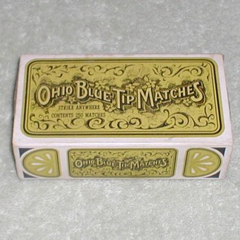Ohio Blue Tip Matches - Tobacciana