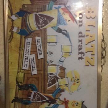 1959 blatz beer sign