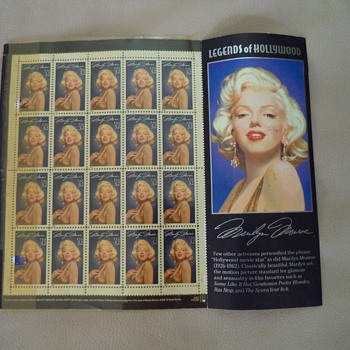 1995 Marilyn Monroe Postage Stamps Sheet - Stamps