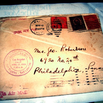 1926 First flight of Contract air mail.