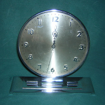 Chrome Deco Clock - Art Deco