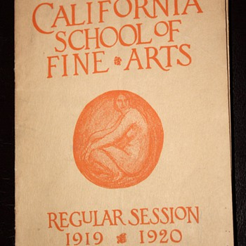 California School of the Arts - 1919-1920 - San Francisco