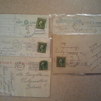Lot 6 - Early 20th century stamps and post cards