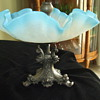"Satin Blue & White ""MARTELE"" DOLFINS Centerpiece Flower Bowl?"