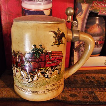 33 Years of Budweiser Holiday Steins - Breweriana