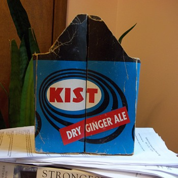 Kist Cardboard Carton Two Large Bottle Carrier - Signs