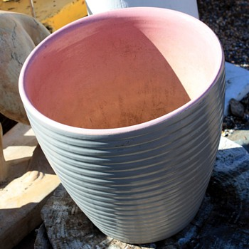 Pink and Gray Roseville Jardinere - Art Pottery