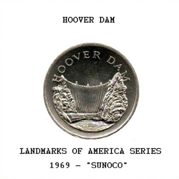 "Sun Oil Co. ""Landmarks"" Token - Hoover Dam - US Coins"