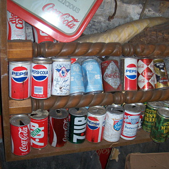old soda can collection - Advertising