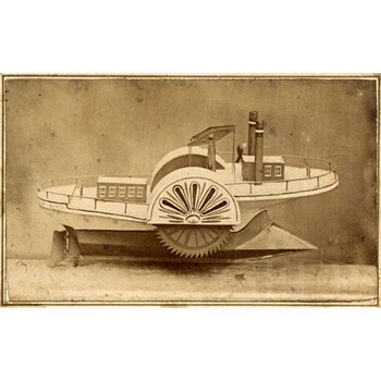 1867 CDV of an Ice Boat Model for Patent
