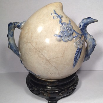 Incredible 15th century Chinese porcelain water dropper form of peach