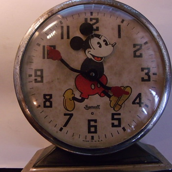 1934 Mickey Mouse Alarm Clock - Clocks