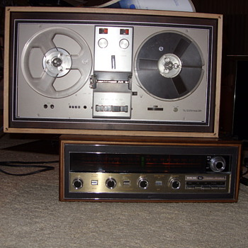 Philco M3850T receiver and a O8WATR reel to reel