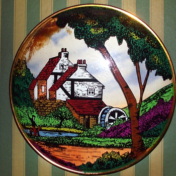 victorian? picture-concave glass to produce 3d effect. - Art Glass