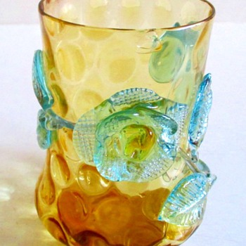 KRALIK FLORAL  MUG OR CUP - Art Glass