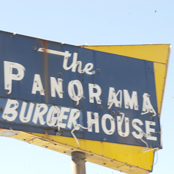 1950's restaurant sign still standing from a
