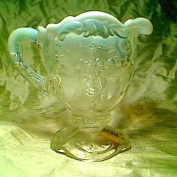 Opal creamer - Art Glass