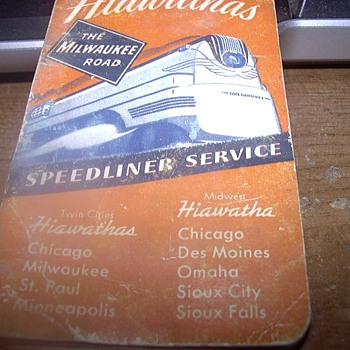 1941 THE MILWAUKEE ROAD NOTEPAD - Railroadiana