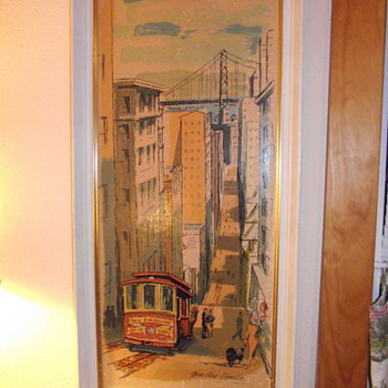 1963 Metalcraft Print of San Francisco by Thomas Lloyd Ramsier
