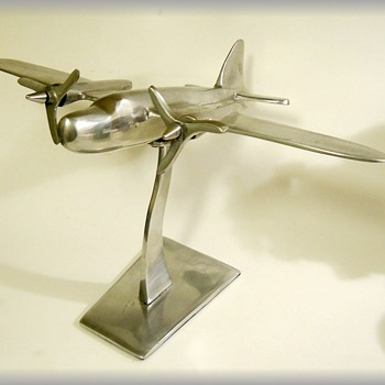 Art Deco Looking --- Desk Air Plane Decor  - Advertising